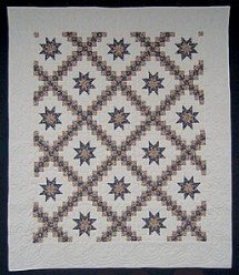 Custom Amish Quilts - Star Double Irish Chain Patchwork