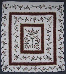 Custom Amish Quilts - Fall Leaf Ivy Applique Patchwork