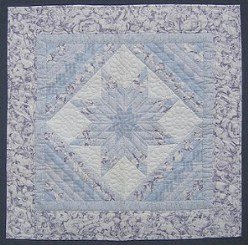 Custom Amish Quilts - Lavender Lonestar Log Small Quilt Wall Hanging
