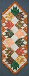 Custom Amish Quilts - Autumn Leaves Small Quilt Wall Hanging