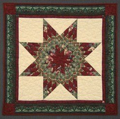 Custom Amish Quilts - Christmas Lone Star Small Quilt Wall Hanging