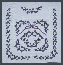 Custom Amish Quilts - Grapes Applique Quilt Top