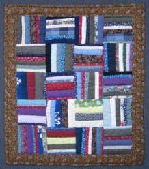 Custom Amish Quilts - Scrappy Rails Small Quilt Wall Hanging Certified