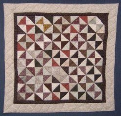 Custom Amish Quilts - Pinwheel Small Quilt Wall Hanging