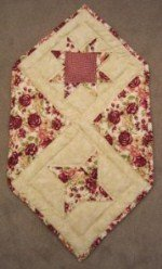 Custom Amish Quilts - Pinwheel Rose Star Small Quilt Wall Hanging