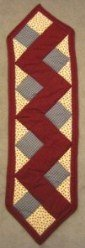 Custom Amish Quilts - Burgundy Tan Rail Fence Certified Small Quilt Wall Hanging