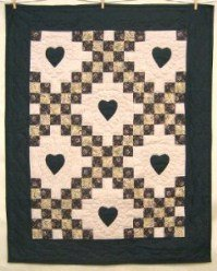 Custom Amish Quilts - Love Irish Chain Small Quilt Wall Hanging