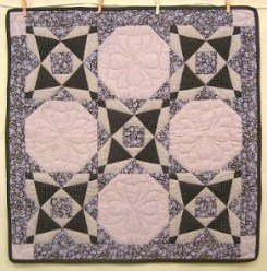 Custom Amish Quilts - Patchwork Bow Tie Small Quilt Wall Hanging