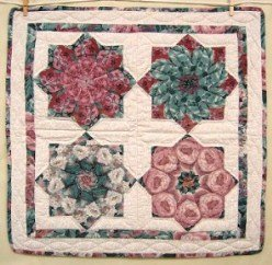 Custom Amish Quilts - Stack Flowers Small Quilt Wall Hanging