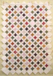 Custom Amish Quilts - Cathedral Window Small Quilt Wall Hanging
