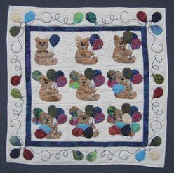 Custom Amish Quilts - Sunny Cathedral Window Small Quilt Wall Hanging