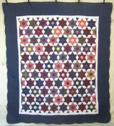 Custom Amish Quilts - Grandmas Stars at Night Patchwork